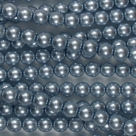#24 1 Strang - 6,0 mm Glaswachsperlen - ice blue
