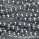 #25 1 Strang - 6,0 mm Glaswachsperlen - lt grey